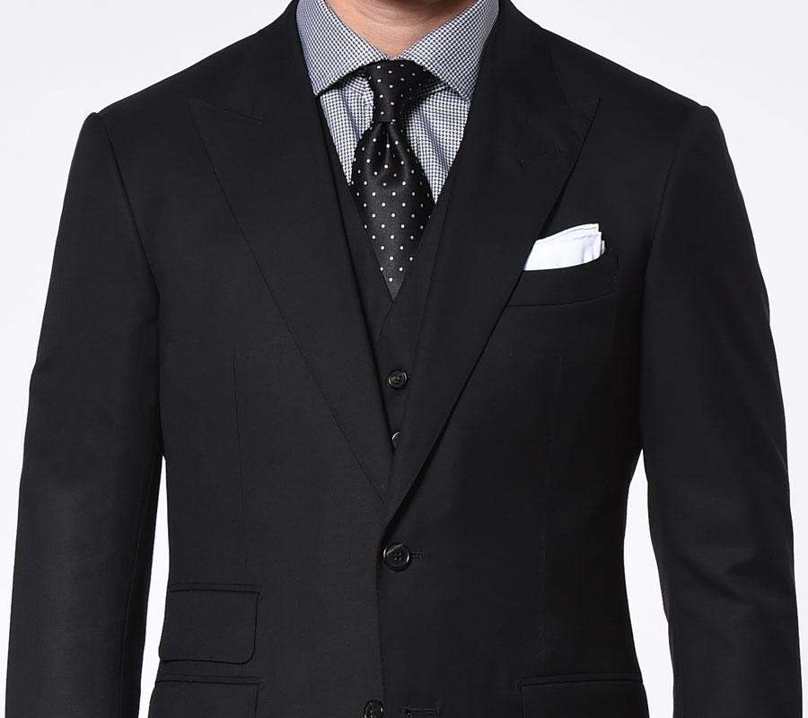 Michael Andrews Bespoke Custom Black Suit