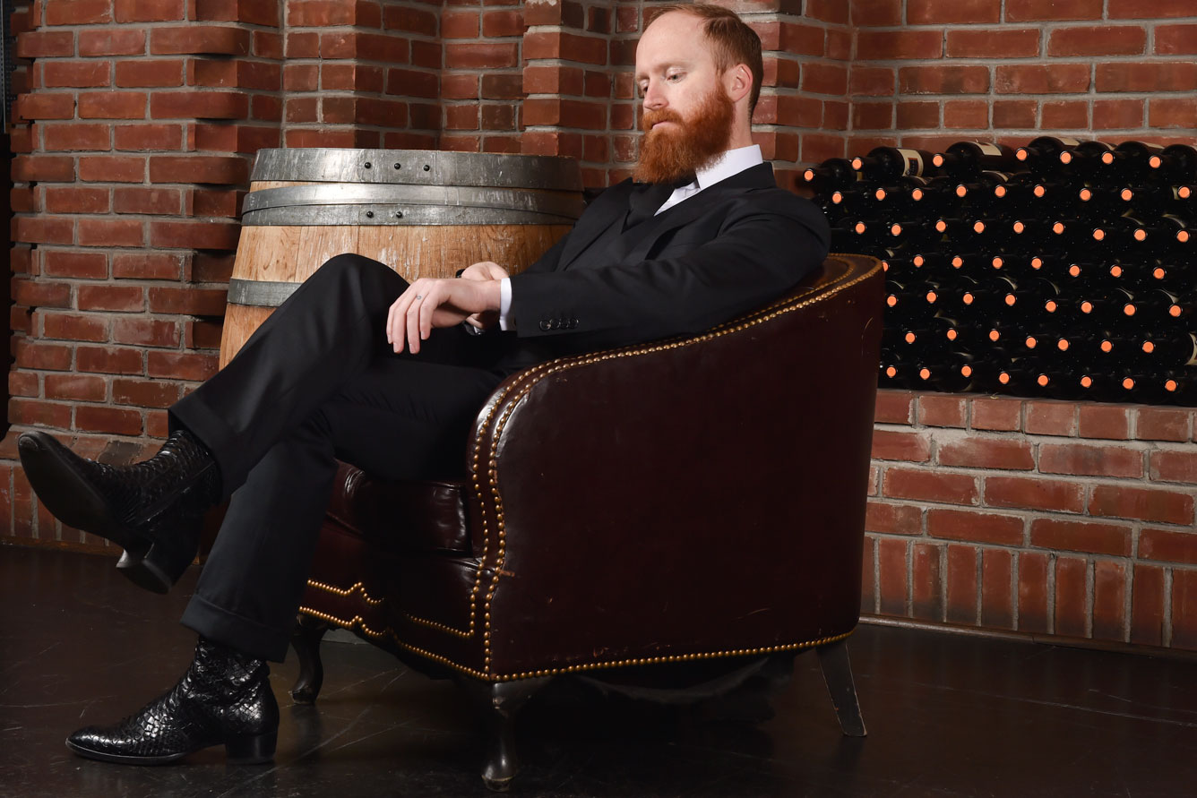 Custom black bespoke suit from Michael Andrews Bespoke