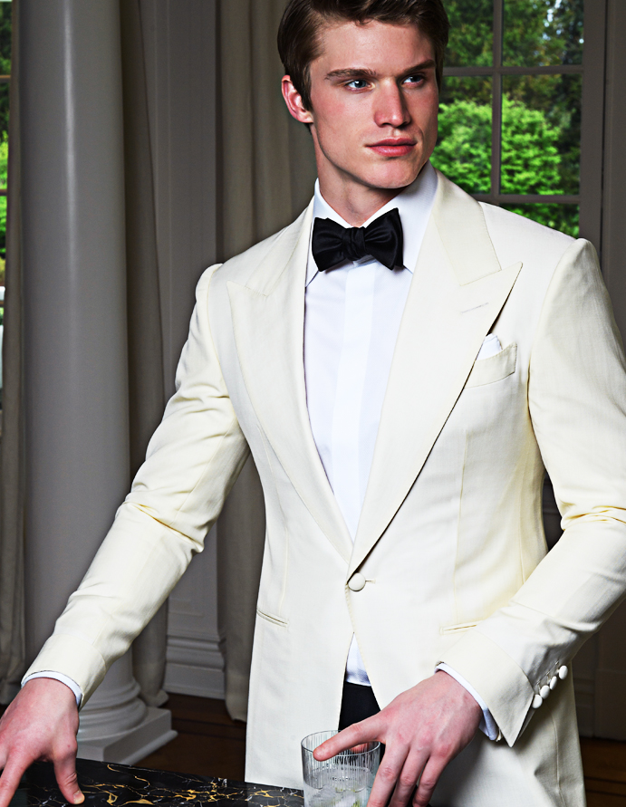 Michael Andrews Bespoke Custom White Dinner Jacket