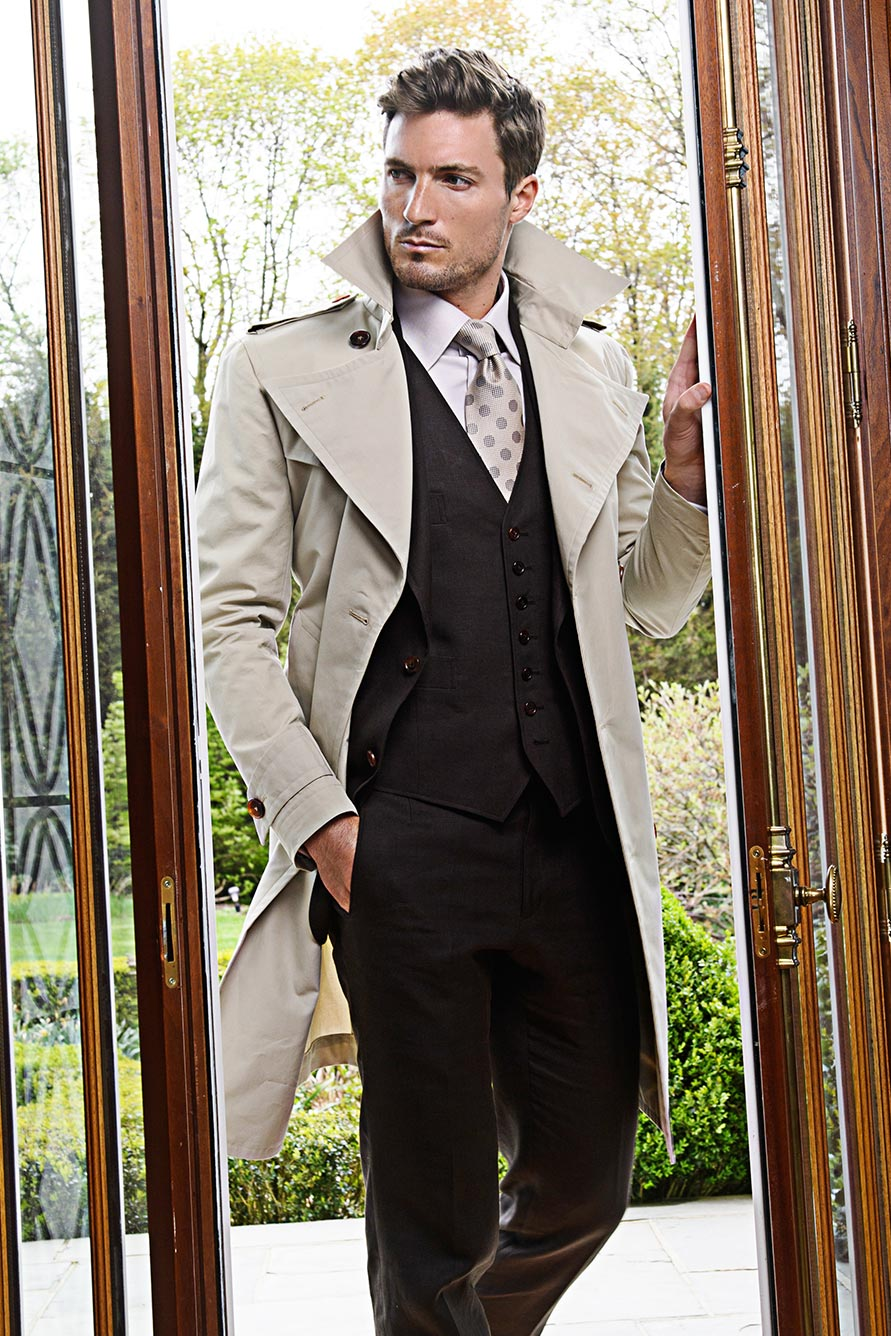 Khaki Bespoke Trench Coat
