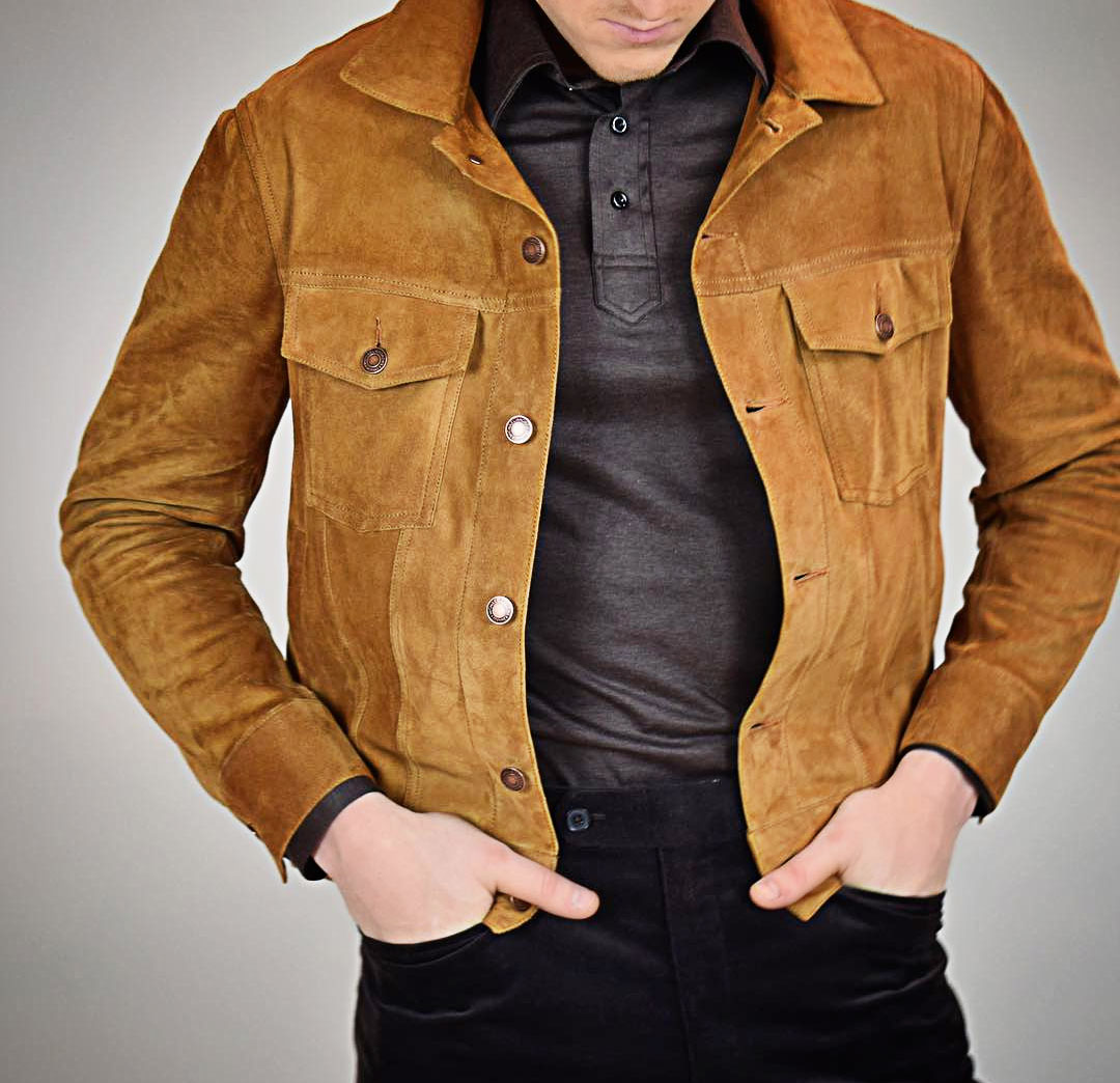 Michael Andrews Bespoke Custom Suede Trucker Jacket