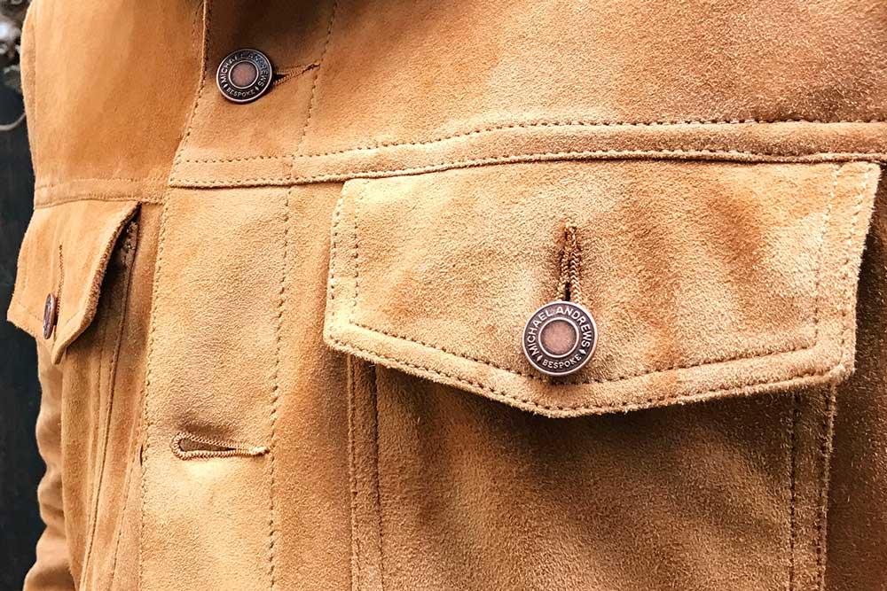 Custom Bespoke Suede Trucker Jacket