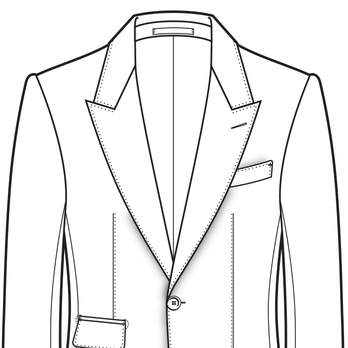 Continental Men's Suit Shoulder Styles
