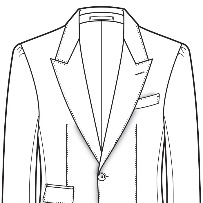 Neapolitan Men's Suit Shoulder Styles