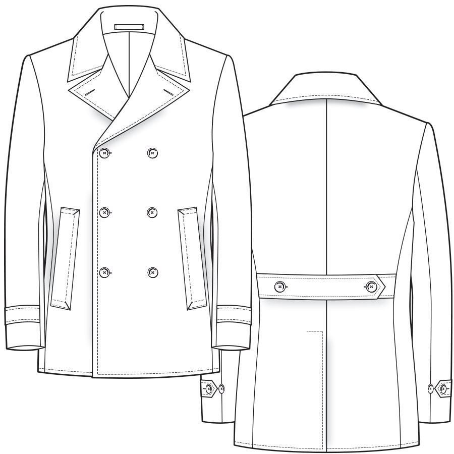 Bespoke Pea Coat Dress Coat Styles