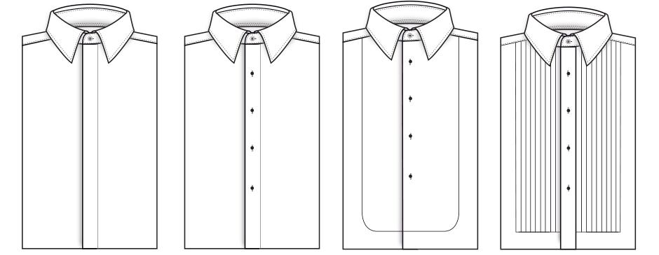 Bespoke Tuxedo Accessories Shirt Styles