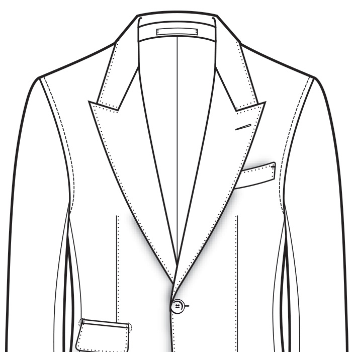 Unstructured Men's Suit Shoulder Styles