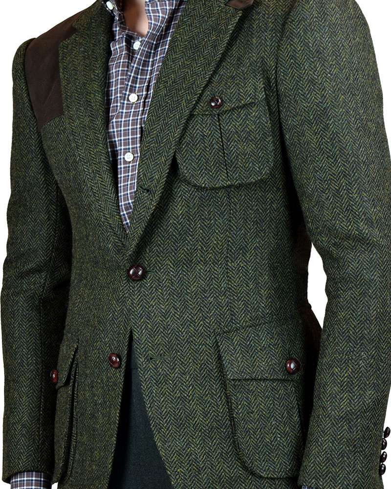 Traditional Shooting Jacket Front