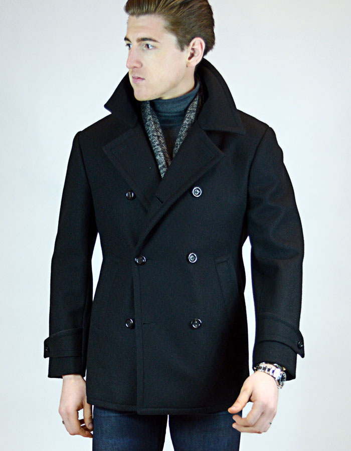 Casual Custom Navy Peacoat