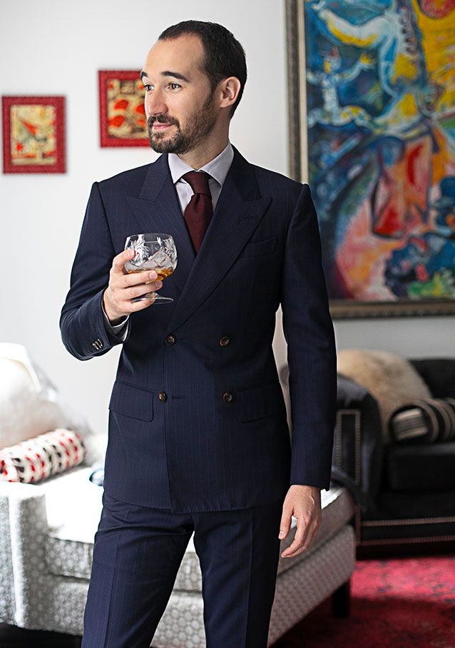 Double Breasted Suit from Michael Andrews Bespoke