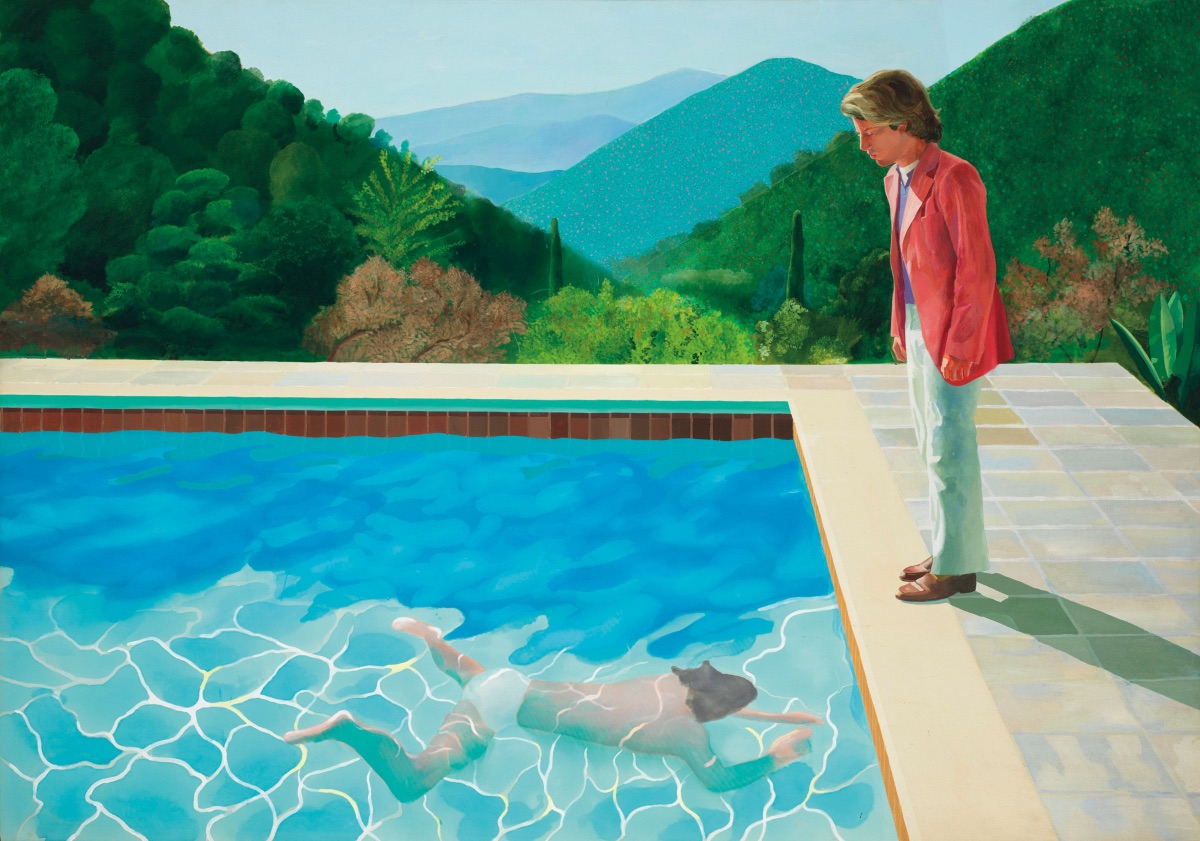 Pool with Two Figures, David Hockney. 1972