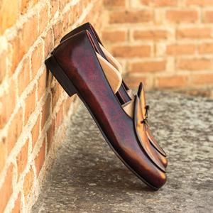 Burgundy Patina Belgian Slipper