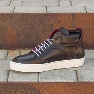 Black High Top w Burgundy Trim
