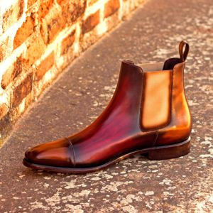 Burgundy Patina Chelsea Boot