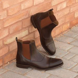 Dark Brown Calf Chelsea Boot