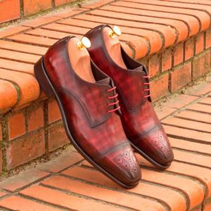 Burgundy Patina Derby