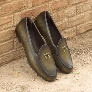 Green Patina Belgian Slipper