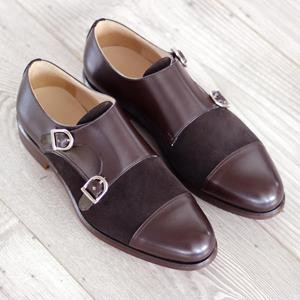 Brown Two-Tone Double Monk