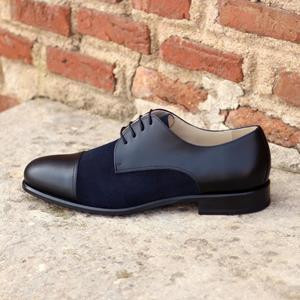 Black Two-Tone Captoe Derby