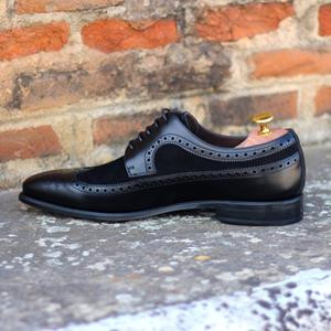 Black Two-Tone Wingtip