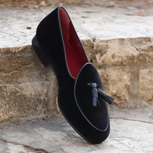 Black Velvet Belgian Slipper