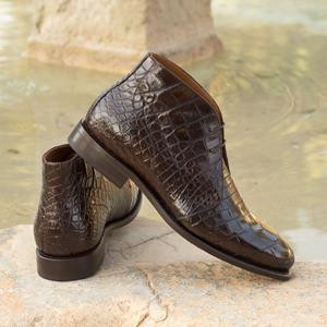 Dark Brown Alligator Chukka