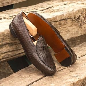 Brown Python Belgian Slipper