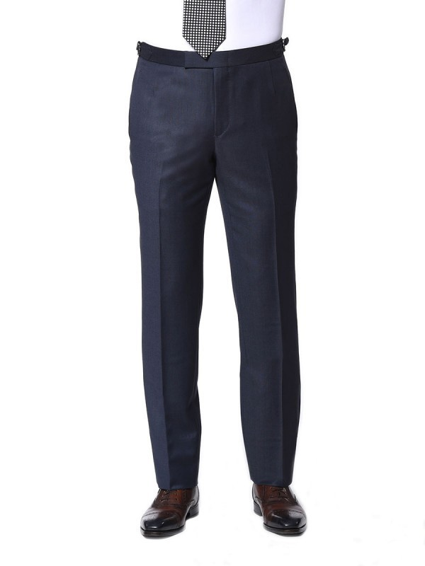 MARINE BIRDSEYE CLASSIC HOOK & EYE TROUSER