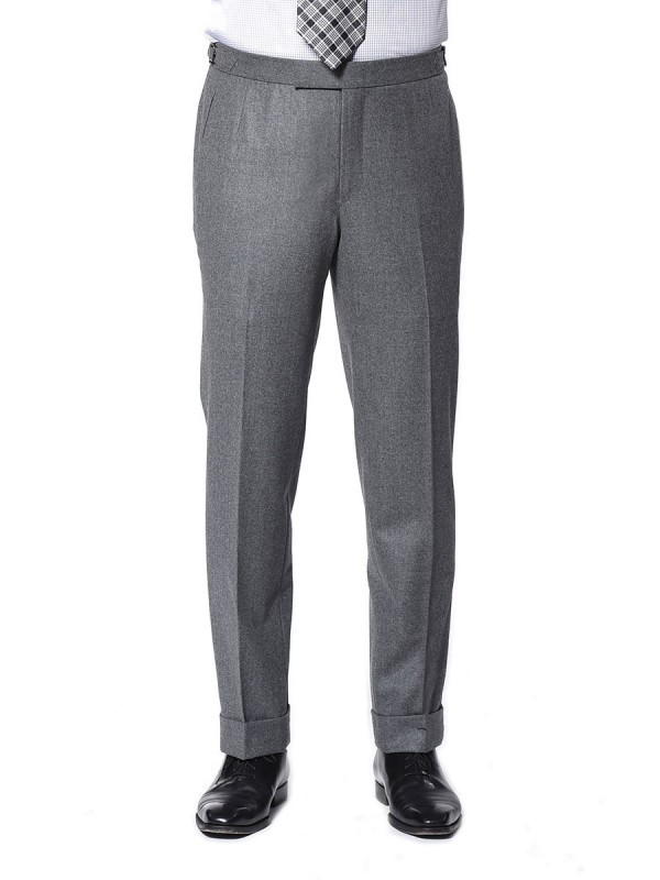 Steel Grey Flannel Classic Bespoke Trouser