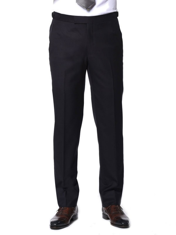 MIDNIGHT TWILL CLASSIC HOOK & EYE TROUSER