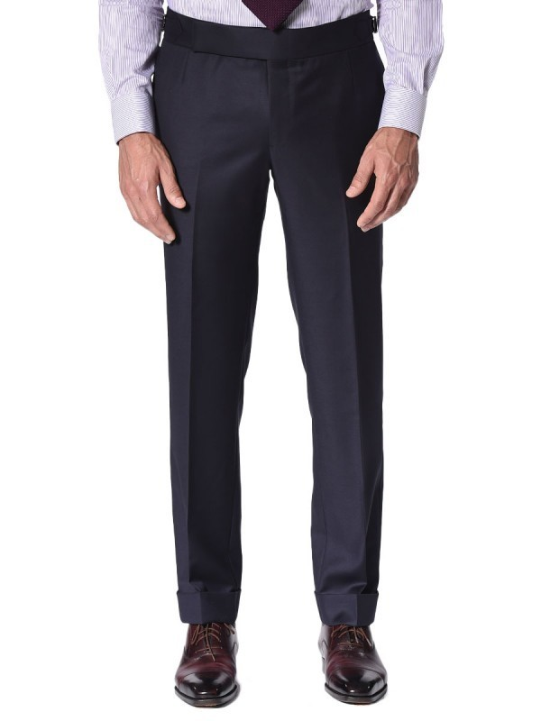 Navy Twill Signature Bespoke Trouser