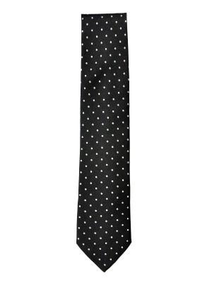Black Dot Silk Tie