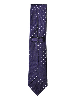 PURPLE DOT SILK TIE
