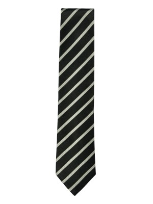 BLACK STRIPE SILK TIE