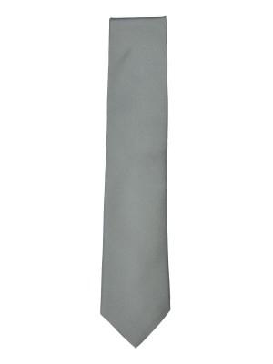 Silver Fine Twill Silk Tie