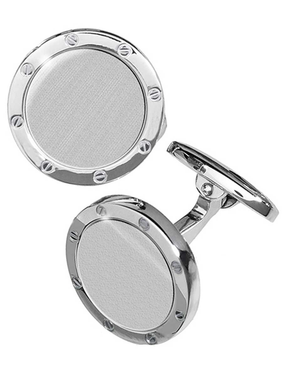 Round Rivet Design Sterling Cufflinks