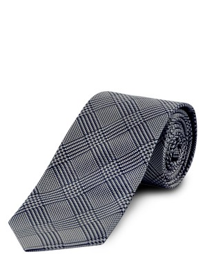 BLACK GLEN PLAID SILK TIE