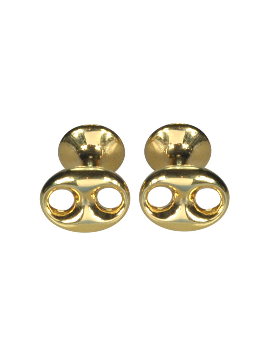 Gold Plated Over Sterling Silver Infinity Cufflinks