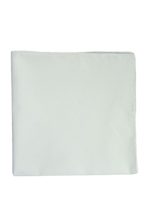 WHITE POPLIN POCKET SQUARE