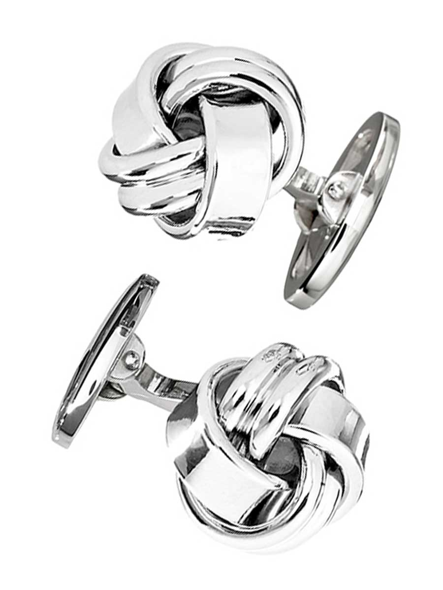 CLASSIC KNOT STERLING CUFFLINKS