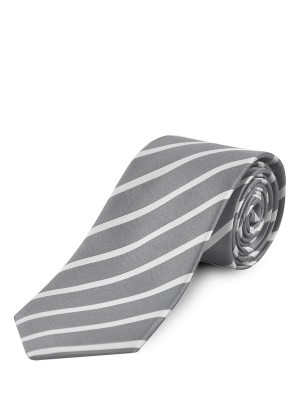 Silver Stripe Silk Tie
