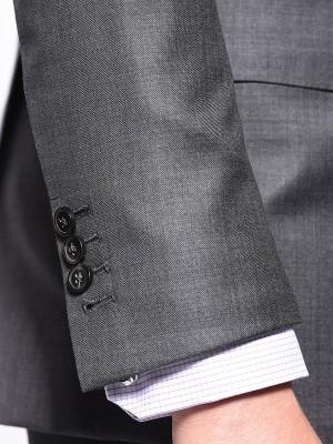 Medium Grey Pick & Pick Classic Bespoke Suit