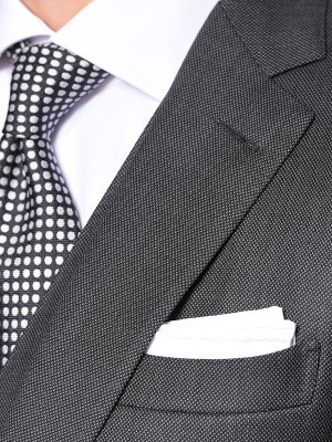 Charcoal Birdseye Classic Bespoke Suit