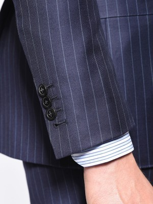 Navy Twill Classic 2-Button Bespoke Suit