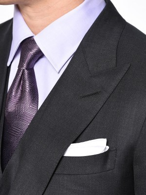 Charcoal Twill Classic Bespoke Suit