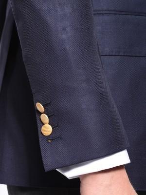 Navy Hopsack Classic Bespoke Sport Coat