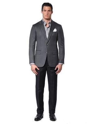 Grey Herringbone Classic Bespoke Sport Coat