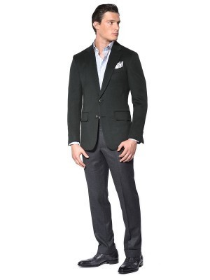 FOREST GREEN CLASSIC 2-BUTTON  SPORT COAT