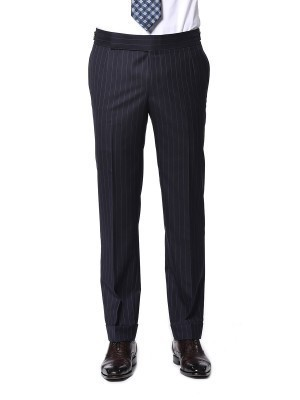 Navy Twill Stripe Signature Bespoke Suit