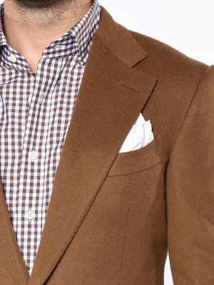DARK CAMEL SIGNATURE 2-BUTTON SPORT COAT